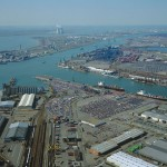 Luchtfoto Antwerpse haven